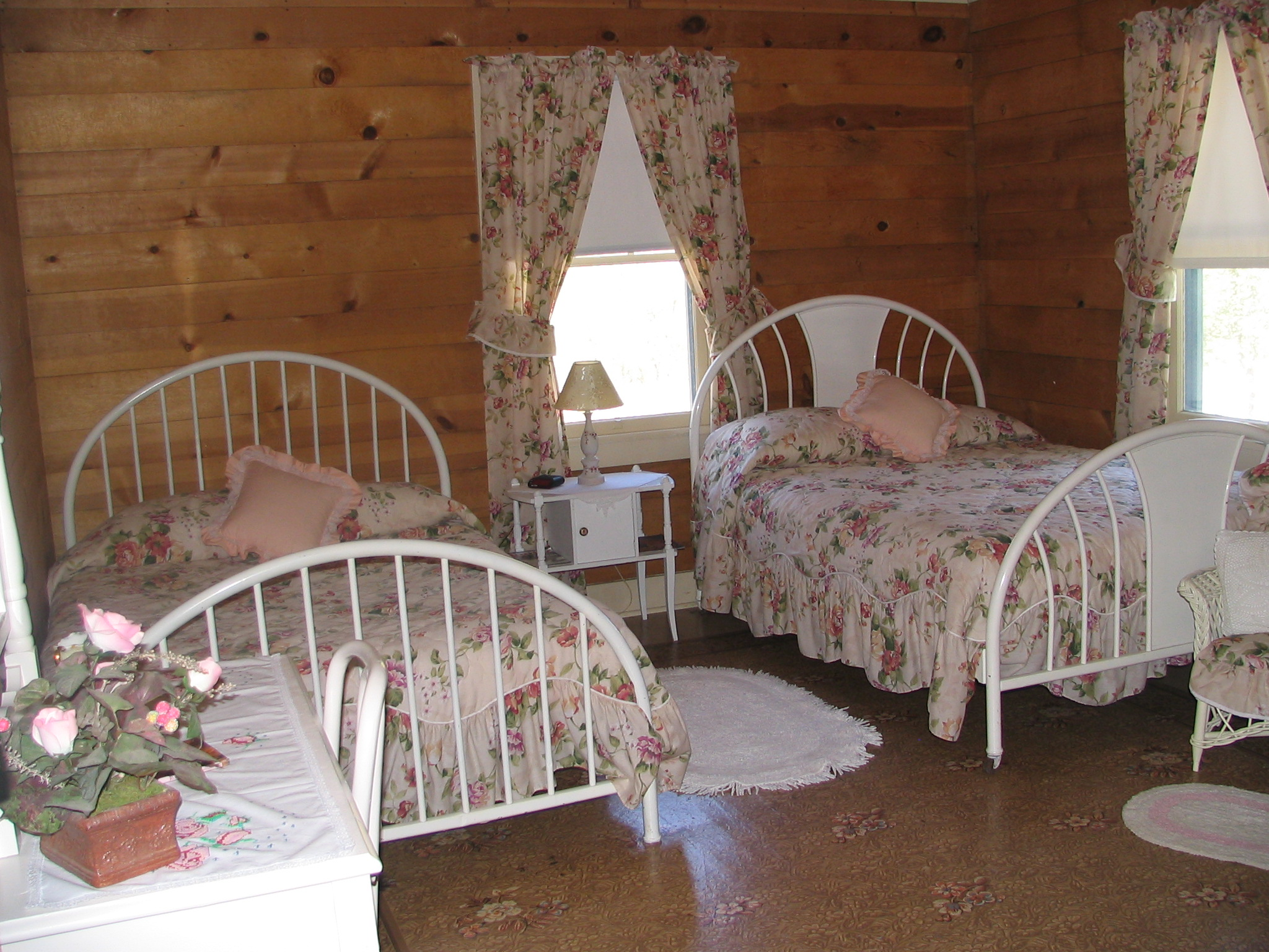 Room #4-8 have 2 Beds (Shared Bath)